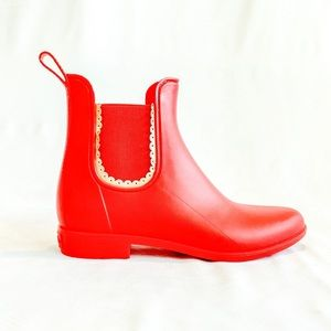 JACK ROGERS✨ Bright red ankle rain boots